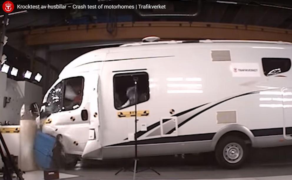 Les inquiétants crash tests de nos camping-cars